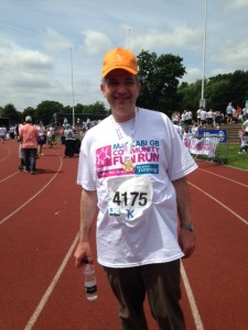 Maccabi Fun Run Rabbi Harris